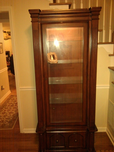 American Furniture Curio and Gun Case