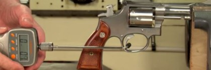 Trigger job on S&W Revolver - video