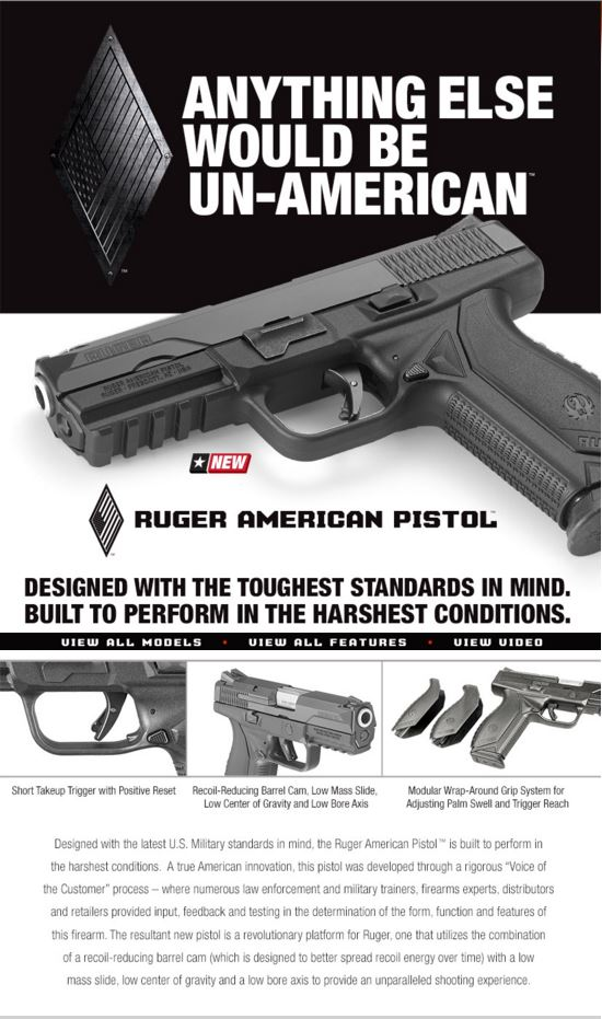 Ruger American Pistol announcement