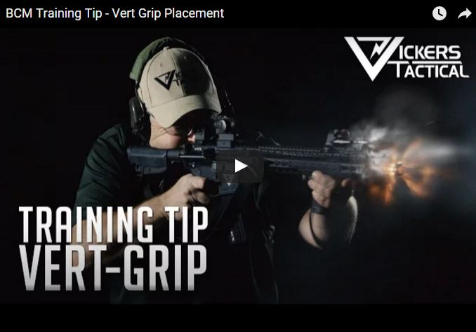BCM vertical grip placement