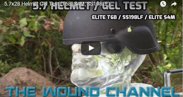 The Wound Channel tests 5.7 against a helmet